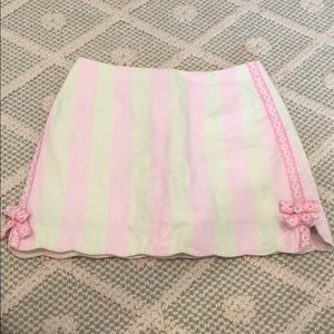 Lily Pulitzer green and pink skort